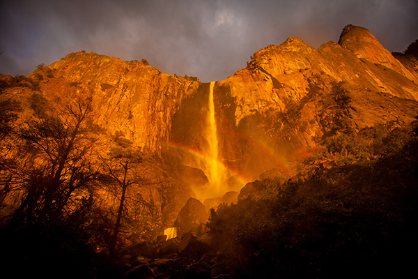 Bridalveil Fall, In Yosemite National Park