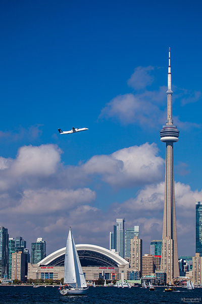 Toronto by land, air and sea from the Toronto Islands