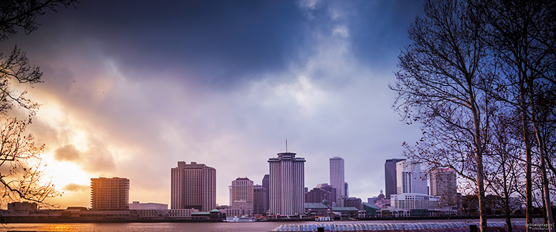 New Orleans Skyline from across the Mississippi River