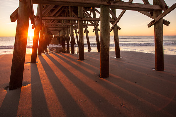 Myrtle Beach, SC Pier at Sunrise