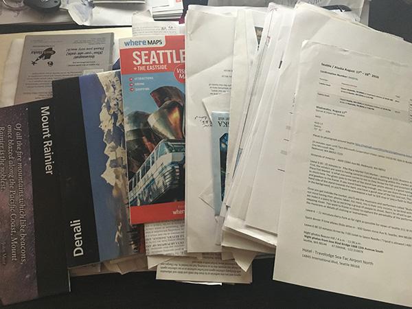 Alaska Trip Folder