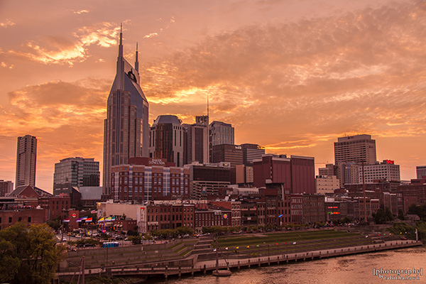 Downtown Nashville at Sunset