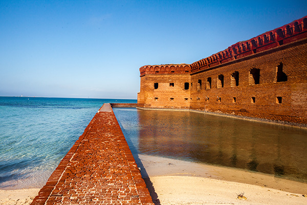 Fort Jefferson - largest brick masonry structure in the Americas