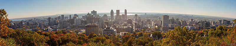 Montreal city view from Chalet du mont Royal