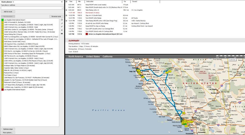 Microsoft Streets & Trips Screen Shot