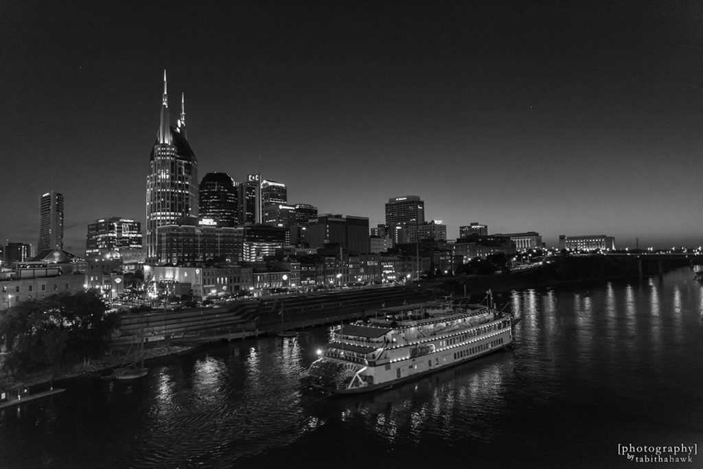 Downtown Nashville with the Andrew Jackson Steamboat